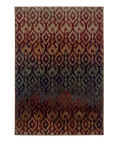 Take a look at this Brown & Blue Ikat Zara Rug by For the Floor: Rugs on @zulily today!