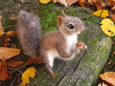 Needle Felted Gray Squirrel by HStiLeS.deviantart.com on @deviantART