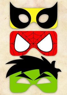 spiderman mask template super cute masks for photo booth or goodie bags. Hulk Birthday, Avengers Birthday, Superhero Birthday Party, Boy Birthday, Birthday Ideas, Superhero Party Favors, Superhero Ideas, Birthday Parties, Fête Spider Man