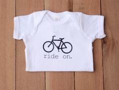 Ride on Onesie, Baby Clothes, Hipster Baby, Baby Onesie, Newborn Shirt, Personalized Onesie, Funny Onesie, Custom Onesie, Baby Gift, Onesie by SimplyThreadsUSA on Etsy https://www.etsy.com/listing/239926218/ride-on-onesie-baby-clothes-hipster-baby