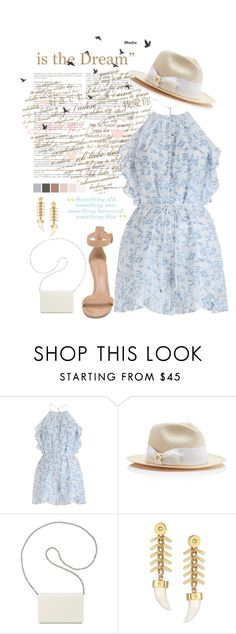 """Something old, something new, something borrowed, something blue"" by fashion-holy ❤ liked on Polyvore featuring Zimmermann, Tory Burch, Nine West, House of Lavande and Gianvito Rossi"