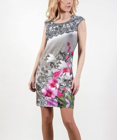 Another great find on #zulily! Gray Angee Encaje Shift Dress by Barbarella #zulilyfinds