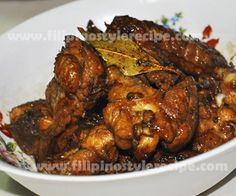 Filipino Style Recipe: Chicken adobo or adobong manok is the another popular yet easy Filipino dish. Adobo have lots of variations such as pork, chicken, Seafood Recipes, Gourmet Recipes, Chicken Recipes, Cooking Recipes, Healthy Recipes, Guam Recipes, Sauce Recipes, Filipino Dishes, Filipino Recipes