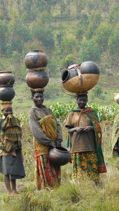 Gathering water ~ Batwa women in Burundi