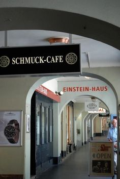There's something poetic about Einstein living above the Schmuck Cafe