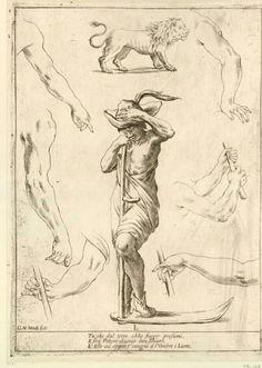 Alfabeto in Sogno (Alphabet in a Dream) [no JUW], Giuseppe Maria Mitelli, 1683