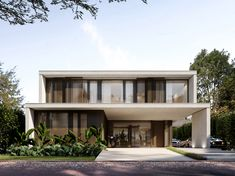 House Outer Design, Minimal House Design, House Outside Design, Modern Tropical House, Double Storey House, Modern Mansion, Dream House Exterior, Facade House, Exterior Design