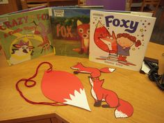 Sometimes Story Time at Los Altos gets a little theme crazy. Today we're all about foxes, and kids will be going home with their own fox tails!