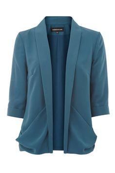 drape pocket jacket
