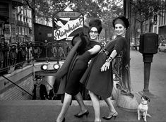 Nana, Jacky & Adèle Chanel, Métro Blanche, 1961  photographer Christer Strömholm  Photos Capture a Community of Transgender Women Living in Paris in the 1950s and 60s