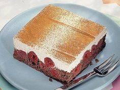 Zimt-Kirsch-Schnitten - Der Sommer verlangt nach leichtem Dessert. Wie wär