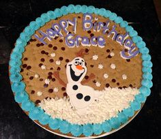 Frozen Olaf Cookie Cake.