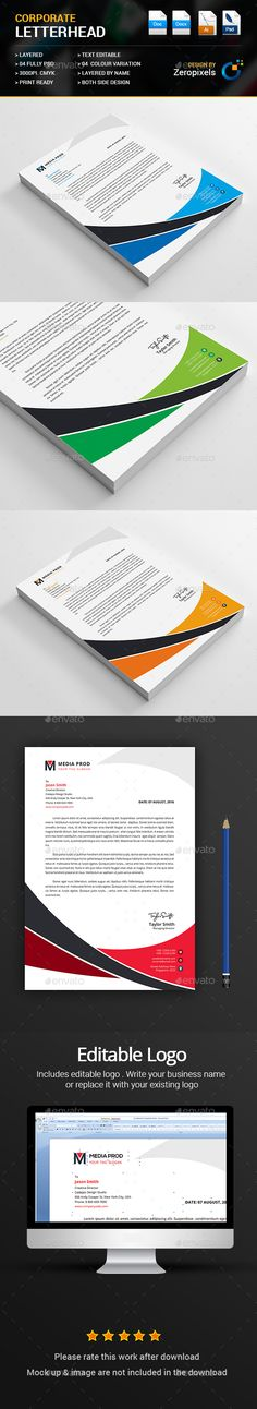Letterhead Letterhead design, Ai illustrator and Print templates - ms word letterhead templates free download