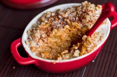 Holiday Breakfast In A Jiffy: Carrot Cake Oatmeal. LEAP friendly except for the nutmeg so you can add this at week 6 or leave it out