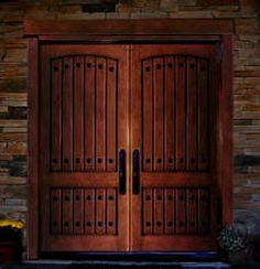 Double Entry Wood Doors unfinished knotty alder double entry doors with the works! clavos