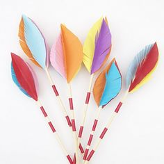 Make fabulous looking arrows for your next party, or just because, with my oh so simple instructions!