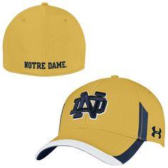 Notre Dame Fighting Irish Under Armour Sideline Renegade Stretch Performance Flex Hat - Gold - $24.99