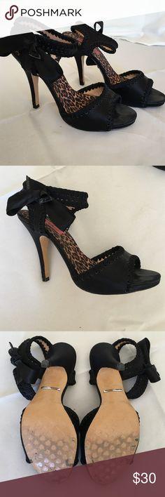 b9243ae478 Betsy Johnson satin sandals Flash Sale Today Beautiful Betsy Johnson black  satin sandals. Sz 9