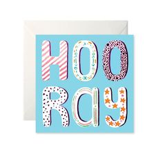 Hooray Card by Helen Magee Hairy Fruit Art Fruit Art, Card Stock, Greeting Cards, Messages, Illustration, Prints, Paper Board, Texting, Text Posts