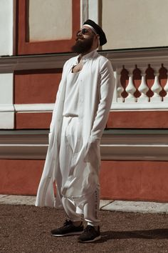 All white by GUILD ⬧ Sten Karik photographed in schlosspark Kadriorg by Felix Laasme