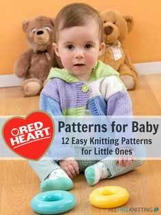 Red Heart Patterns for Baby: 12 Easy Knitting Patterns for Little Ones