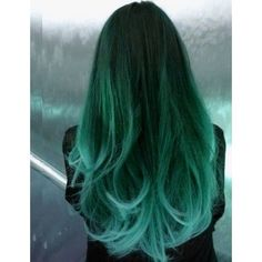 Neon Green Hair Dye | SPRING APPLE - 6 Electric Green Hair Chalks |... ❤ liked on Polyvore featuring hair
