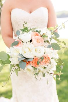 I like this bouquet, although I think I'd want less coral