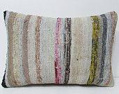 16x24 boho sofa floor pillow case cushion rug pillow kilim accent outdoor ethnic bohemian decorative Turkish Lumbar pillow cover throw 24117