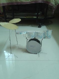 The paper cup drum set model from Meet jani
