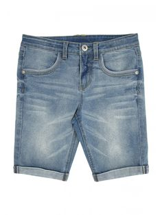 These older girls' long denim shorts are the perfect pick for sunny days and holidays. Featuring a button fastening and front and back pockets, these shorts ...