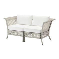 IKEA - KUNGSHOLMEN / KUNGSÖ, 2er-Sofa/außen, hellgrau/weiß, , Durch Kombinieren…