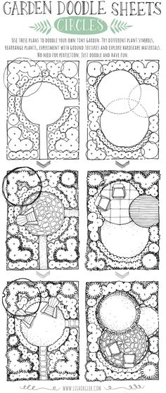 If you have the opportunity to enjoy a spring break, take time to relax and  doodle some garden ideas. Grab a pen and explore different ways you might  design the spaces below. Try different plant symbols, ground textures and  hardscape materials. Both plans incorporate the circle as the main  structure. How would you create a tiny garden with a circle theme? Click on  the image below to download a .pdf of the plans to doodle yourself.   For additional garden doodle sheets, please click…
