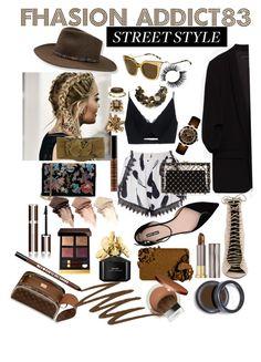 """Sin título #350"" by mar-quintana on Polyvore featuring moda, Glamorous, Versace, Giorgio Armani, Fendi, Stetson, Super Duper, Charlotte Olympia, Yves Saint Laurent y Urban Decay"