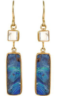 Judy Geib Opal and Moonstone Earrings
