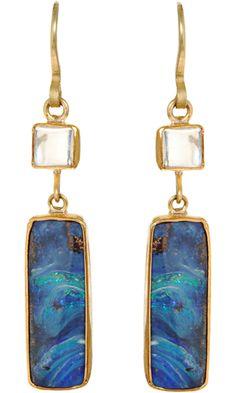 Judy Geib Opal y Aretes Moonstone