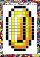 coin hama beads pattern