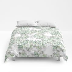 Delicate silvery mint succulents Comforters