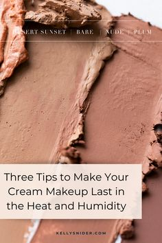 Yes you can wear creamy makeup when it is humid outside! Do you hate how your makeup feels in the summer humidity? Make sure your makeup has staying power and can endure the heat with these 3 tips! This will make your Seint makeup last all day. Summer is here, which means temperatures are rising! Here are three tips to make your cream makeup last in the heat and humidity. www.kellysnider.com Simple Everyday Makeup, Simple Eye Makeup, Full Face Makeup, Easy Makeup Tutorial, Makeup Tutorial For Beginners, Beauty Tips For Hair, Diy Beauty, Contouring For Beginners, Makeup You Need