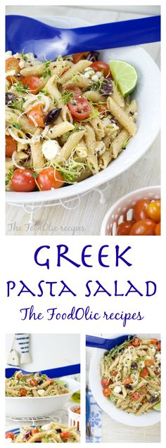A greek salad turned into a pasta is a great, easy and healthy meal to make this summer. Suitable for picnics, lunch by the pool or outdoor parties, it just gets better the longest all the flavour mix together.