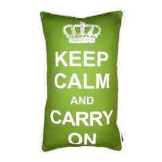 lava Keep Calm Pillow   AllModern