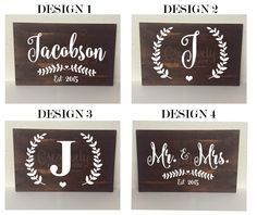 Personalized Last Name Established Wood Sign Last Name Initial, Mr and Mrs, Decor, Wedding Gift, Couples Gift, Bride to be, Home Decor by CreativelyHandmadeNE on Etsy