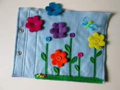 Flower Garden Quiet Book Page Busy Book by FreckledFelt on Etsy