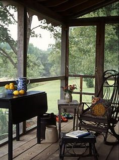 A big screened in porch.....every very small house needs one.