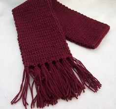 basic crochet scarf- in this color or perhaps a dark gray