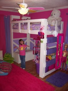 Soooo girly! Love it! link to plans Love the mirror on the side, padded ladder, looks so sturdy