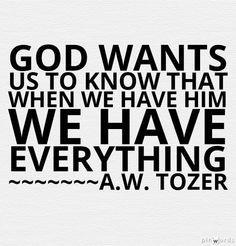 aw tozer quotes - Google Search