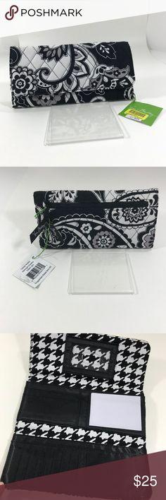 Vera Bradley Wallet black/white/gray trifold wallet Vera Bradley Bags Wallets
