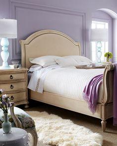 """""""Tristan"""" & """"Caroline"""" Bedroom Furniture - Horchow night stand 30"""" tall headboard 64"""" tall"""