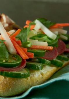 Banh Mi with Daikon Carrot Slaw  The easiest Bahn Mi Recipe ever!