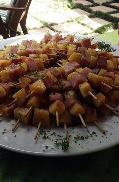 Ham  Pineapple Kebabs
